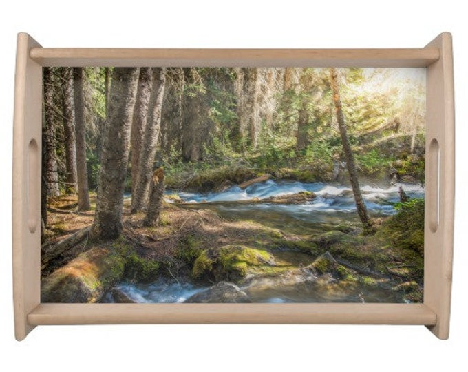 Featured listing image: Forest Scene Serving Tray
