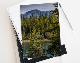 Mountain Travel Journal, Woodland Writing Notebook, Gratitude Journal, Nature Scrapbook, Back to School Notebook
