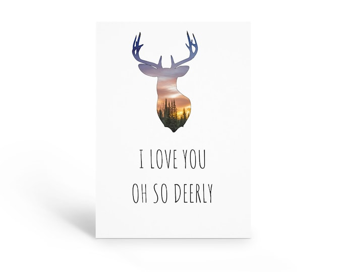 Deer Anniversary Card
