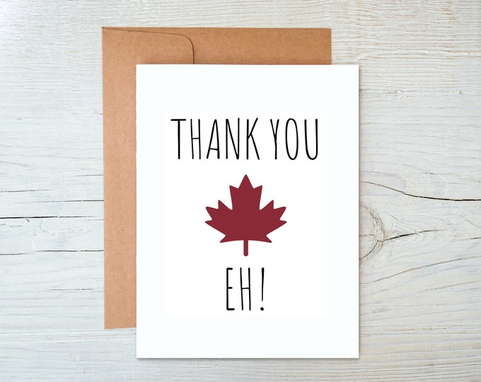 Thank You Eh Greeting Card