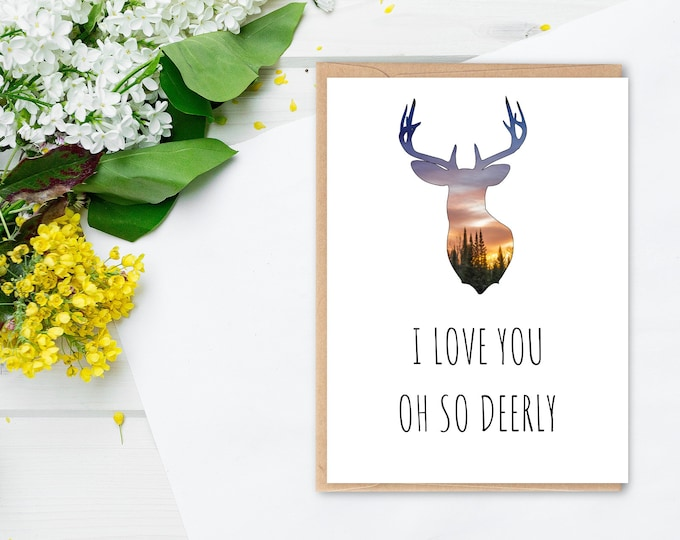 Romantic Deer Card