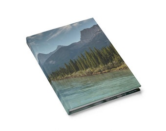 Mountain print journal - Rocky Mountains notebook - Alberta photography - Notebook for travel - Nature planner - Rustic  hardcover journal
