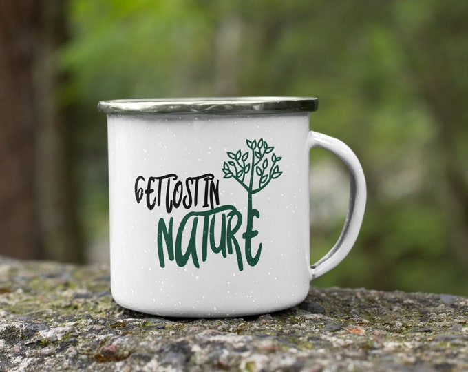 Get Lost in Nature Enamel Mug
