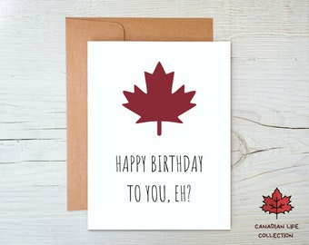 Canada Happy Birthday Card