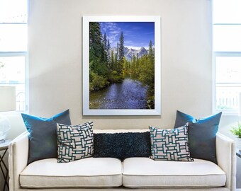 Wilderness Print, Mountain Print, Forest Print, Great Outdoors, Nature Wall Art, Mountain Decor, Pine Tree Decor, Home Decor, Cabin Decor