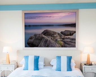Lake Sunset Photography Print and Canvas Wall Art