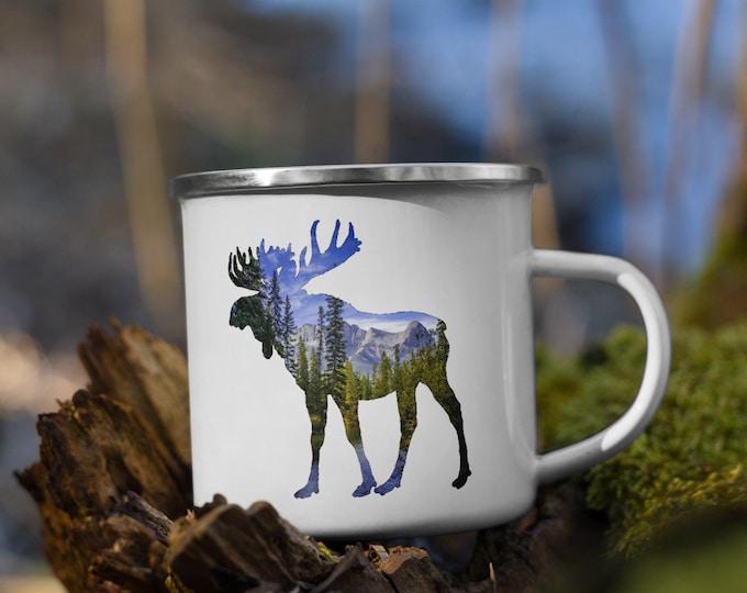Enamel Moose Mug