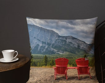 Canada Red Chairs Pillow