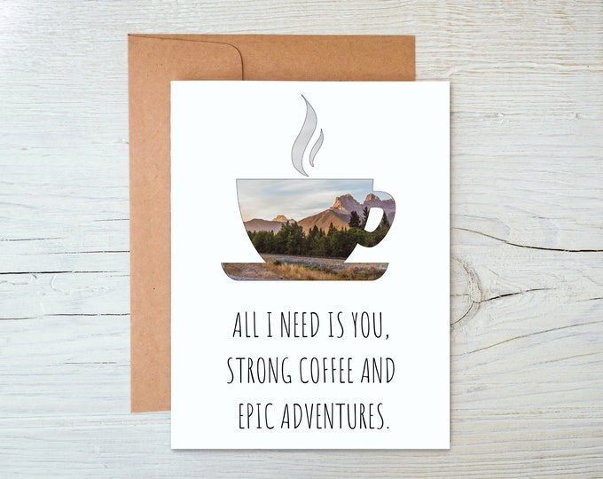 Featured listing image: Coffee Greeting Card
