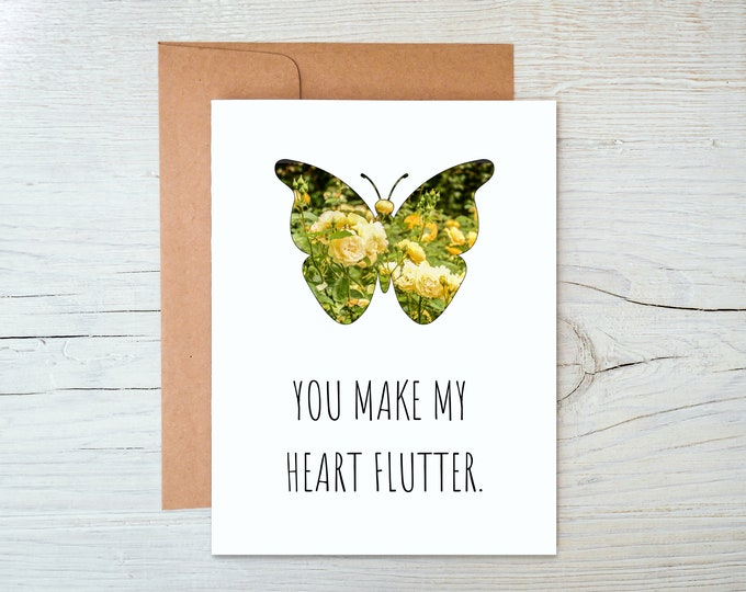 You Make my Heart Flutter Card