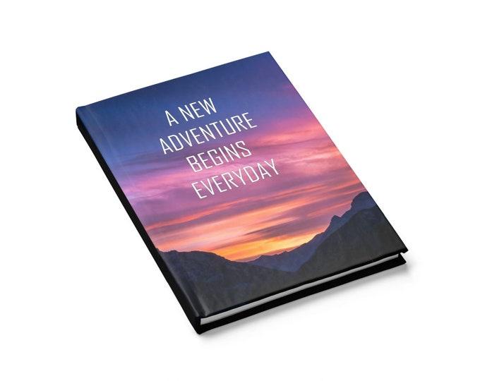 Adventure Journal Travel Journal Mountain Notebook Writing Notebook Inspiraitonal Agenda Goals Planner Gift for Her Birthday Gift