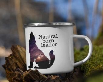 Wolf Campfire Mug