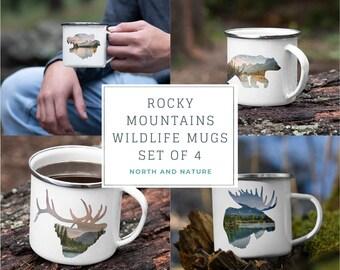 Rocky Mountain Campfire Mug Set of 4