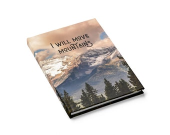Move Mountains Notebook, Mountain Notebook, Inspirational Journal, Motivational Journal, Lake Louise, Travel Journal, Travel Planner- Agenda