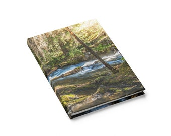 Forest print notebook - Tree notebook - Rustic notebook - Travel journal - Notebook planner - Hardcover journal - Banff photography - Nature