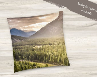 Scenic Mountain Throw Pillow