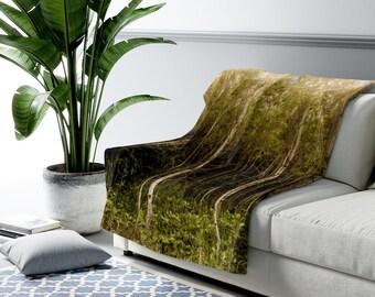 Forest Sherpa Fleece Blanket