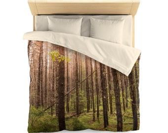 Forest Duvet Cover for Rustic Bedroom