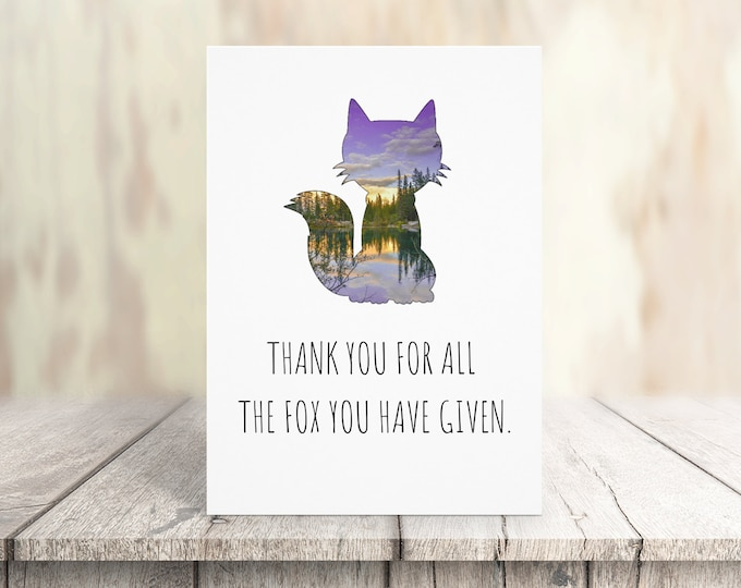 Humorous Fox Card