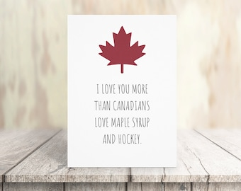 Funny Canada Valentines Card