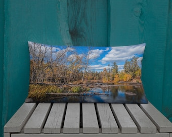 Autumn pillow - Tree pillow - Forest print pillow - Fall decor - Rustic home decor - Manitoba photography - Leaf pillow - Woodland decor