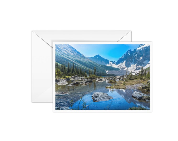 Blank Banff Greeting Card