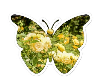Floral Butterfly Sticker