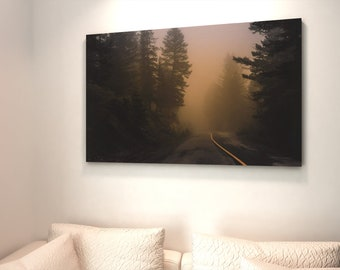 Foggy Forest Photography Print and Canvas Wall Art