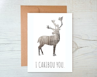 Caribou Greeting Card