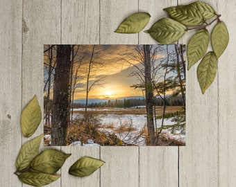 Rustic Sunset Card