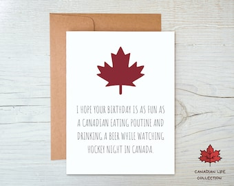 Canada Birthday Card