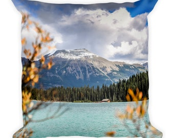 Lake Louise in the Fall pillow
