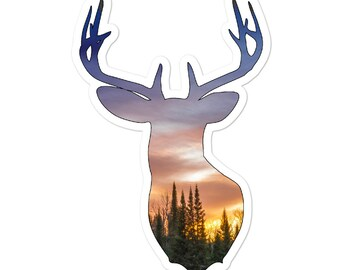 Woodland Deer Sticker
