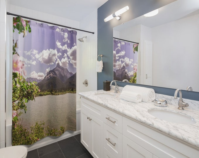 Rocky Mountains Wildflowers Shower Curtain
