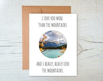 Mountains Anniversary Card