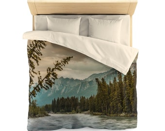 Rustic Mountain Duvet Cover
