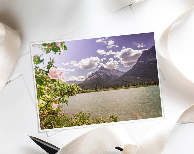 Blank Floral Greeting Card