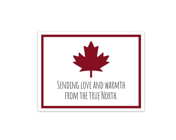 Sending out Love and Warmth from the True North Postcard Set