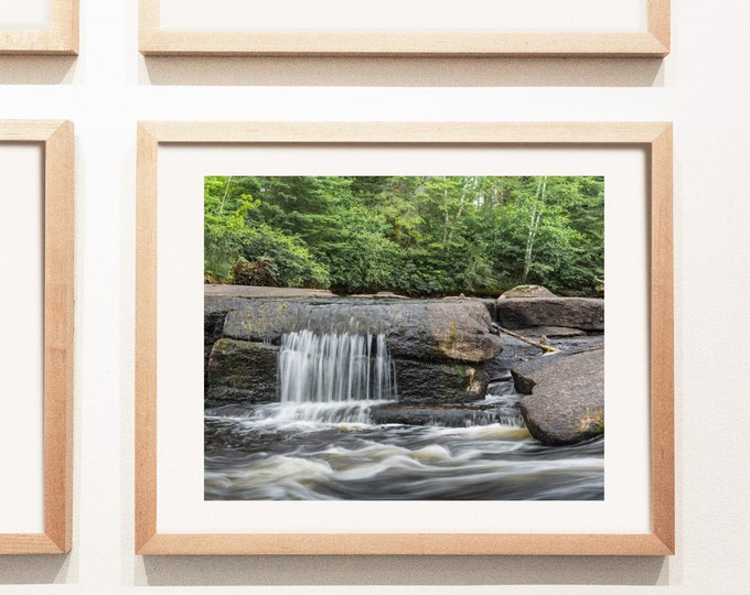 Forest Waterfall Photography Print and Canvas Wall Art