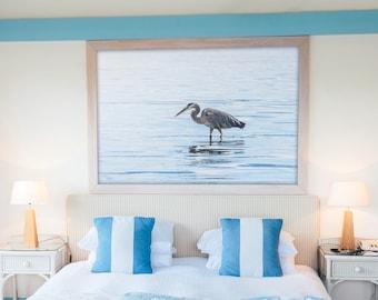 Heron Print, Bird Print, Ocean Print, Animal Print, Bird Photography, Ocean Photography, Home Decor, Nautical Decor, Bird Gift, Ocean Gift