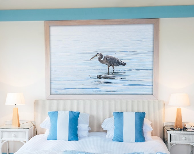 Heron Photography Print and Canvas Wall Art