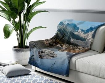 Mountain Sherpa Fleece Blanket