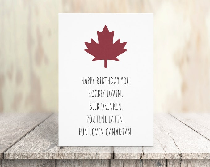Canadian Happy Birthday Card