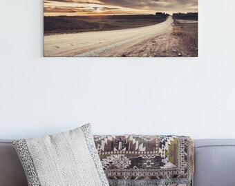 Long Dirt Road Wall Art Print and Canvas Wall Decor