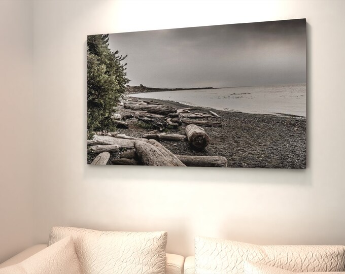 Moody Beach Photography Print and Canvas Wall Art