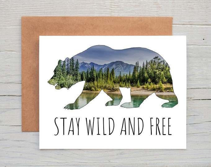 Featured listing image: Stay Wild and Free Greeting Card