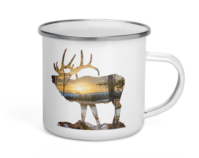 Forest Elk Enamel Mug