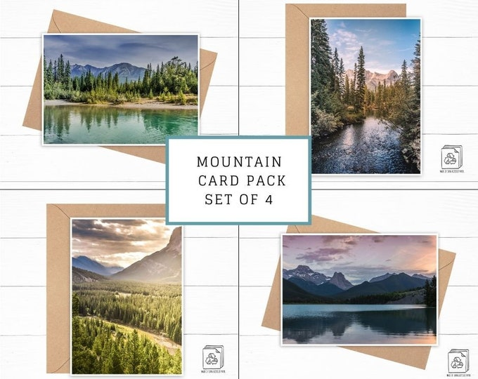 Mountain Card Pack Set of 4
