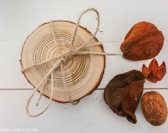 Pine Wood Coasters Set of 4