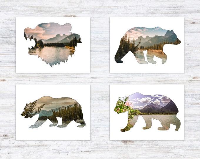 Mountain Bear Postcard Set